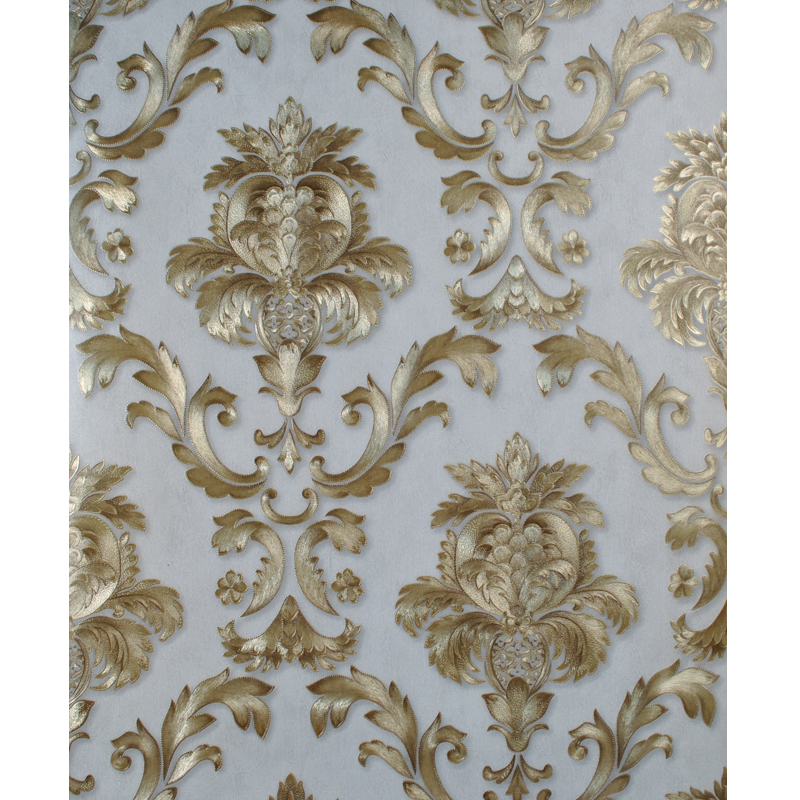 Gold Textured Luxury Classic Damask Wallpaper For Bedroom