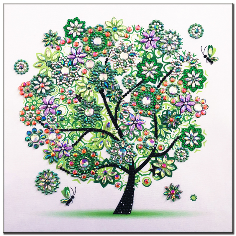RUBOS DIY 5D Diamond Embroidery Colorful Tree Butterfly Bead Diamond Painting Cross Stitch Pearl Crystal Sale Hobby Gift Decor (5)