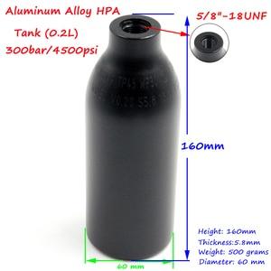 Image 4 - QUPB PCP Paintball High Pressure Cylinder 0.2L 4500PSI HPA Aluminium Air Tank w/ Regulator 5/8 18UNF 60MM Diameter TKU020