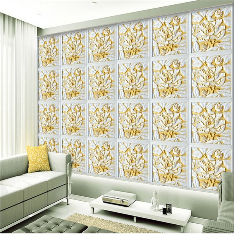 living background wall wallpapers tapety beibehang mural mosaic bedroom custom
