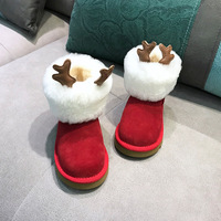New Winter Small Animal Cartoon Children's Shoes Boots Plus Velvet Warm Snow Boots