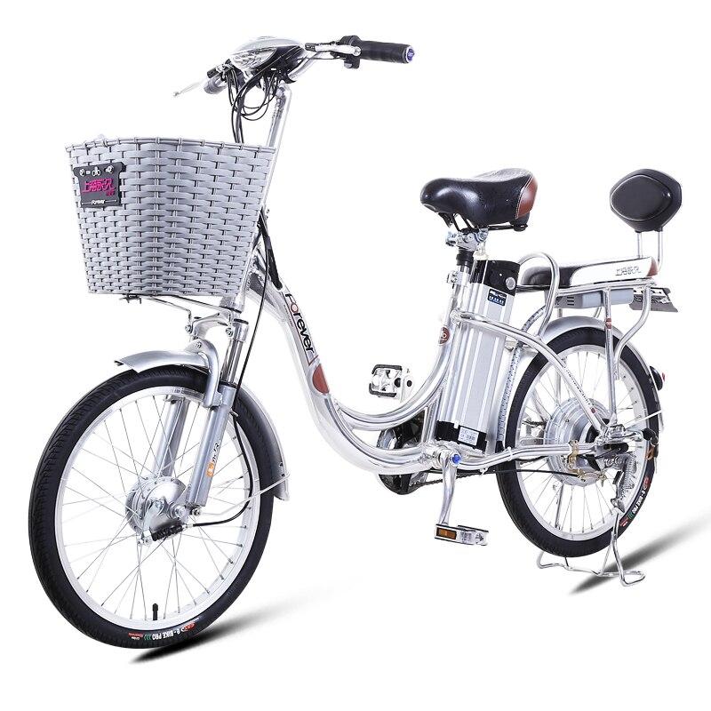 16-22 pouces vélo électrique urbain 48V12-15AH batterie au lithium 240 w haute vitesse moteur en alliage d'aluminium vélo électrique princesse bicycl