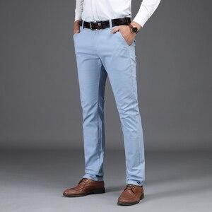 Image 4 - Yeni gelenler erkek iş rahat pantolon moda pantolon düz pamuk elastik temel klasik erkek moda pantolon artı boyutu 28 42