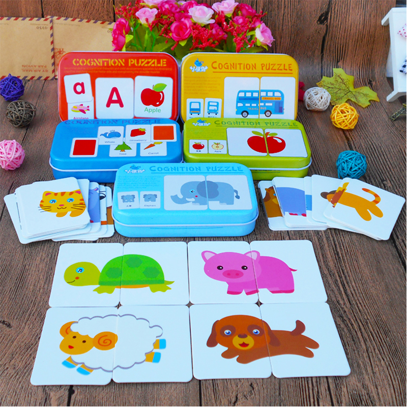 Baby Toys Infant Early Head Start Training Puzzle  Baby Gift Word Matching Puzzle Card Puzzle Educational Toy Puzzle Baby Gift