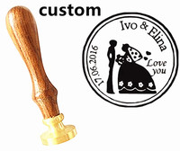 Customize Wax Seal Stamp Logo Personalized Image Custom Seal Paint Seal Stamp Wedding Invitation Retro Antique