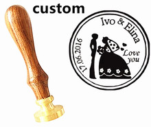 Customize wax seal stamp logo Personalized image custom seal paint seal stamp wedding invitation Retro antique stamp custom