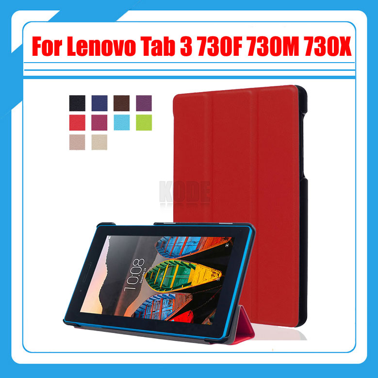 3 in 1 ,PU Leather Case Cover For Lenovo Tab 3 7 730 730F 730M 730X TB3-730F TB3-730M 7 Tablet Screen Protector Film + Stylus dolmobile ultra slim tri fold pu leather case stand cover for lenovo tab 3 730f 730m 730x tb3 730f tb3 730m screen protector