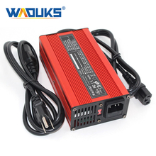 Cargador de batería de litio de 58,8 V, 4A, carcasa de aluminio rojo, para baterías Li Ion de 51,8 V 14S, herramientas eléctricas