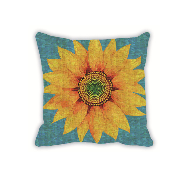 Cushion Cover Printed Sunflower Cushion Covers Luxury Decorative Adorable Sunflower Decorative Pillows