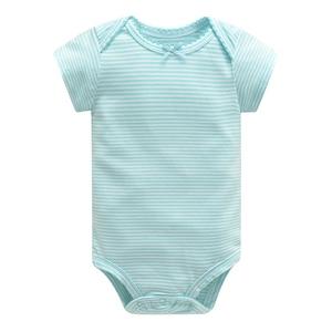 Image 4 - Baby Jumpsuit Bodysuits Korte Mouw Katoen Leuke Print Romper 5Pcs Pasgeboren Baby Outfit Zomer Baby Jongens Kleding Set gewaad Bebe