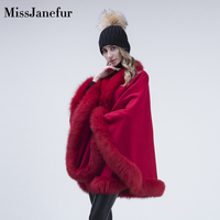100% cashmere women fox fur shawl wool knitted wholesale genuine wholesale real fur