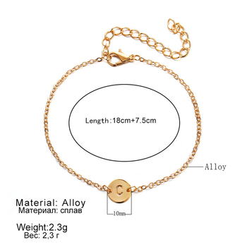 WLP Fashion Gold Color Letter Bracelet & Bangle For Women Silver Adjustable Name Bracelets Jewelry Female Gift Pulseras Mujer 4