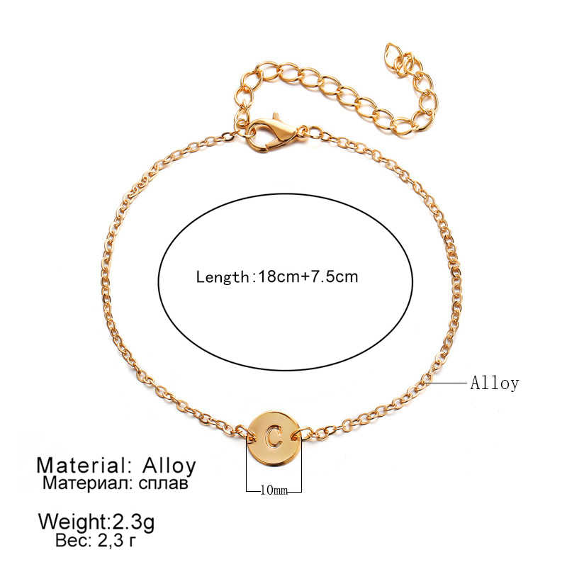 WLP Fashion Gold Color Letter Bracelet & Bangle For Women Silver Adjustable Name Bracelets Jewelry Female Gift Pulseras Mujer