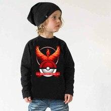 2016 Pokemon Boys full long sleeve t shirt hoodie tees autumn winter spring tshirt blouse sweatshirt Size for 3 4 5 6 7 8 Years