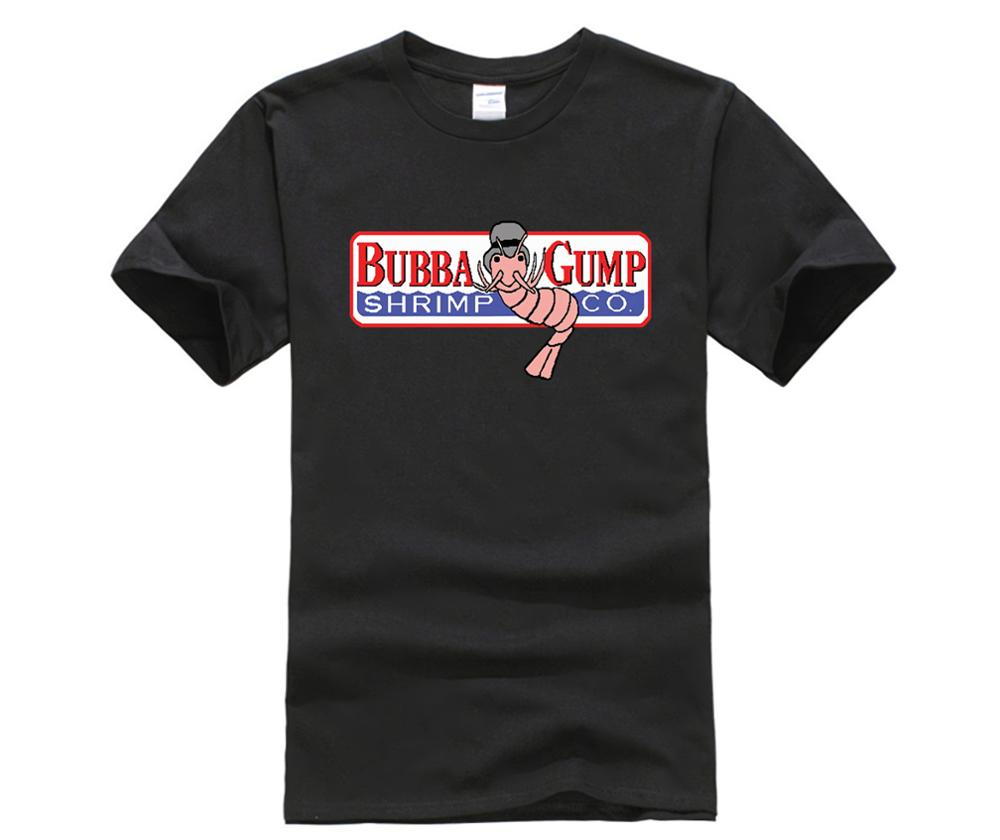 Creative Bubba Gump Forest Shrimp Seafood Co Eighties T-shirt Black Basic Tee O-neck Short-sleeve T Shirts Terrific Value Tops & Tees