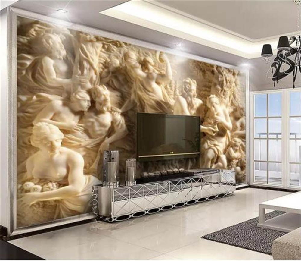 3d Wallpaper 3d Embossed Three-Dimensional Greek Mythology Characters Living Room Bedroom Background Wall Decoration Wallpaper