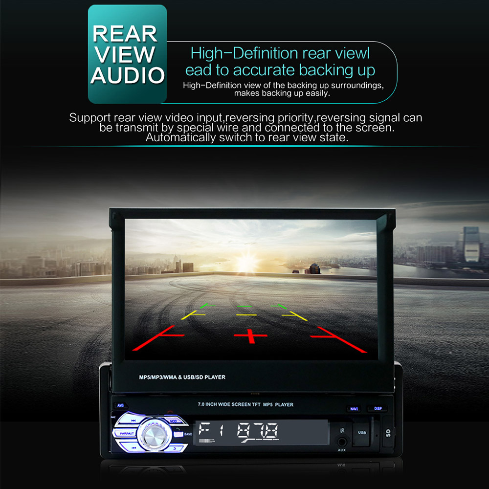 """Image 5 - 9601 7"""" HD Touch Screen Universal Car Bluetooth MP4 MP5 Player Navigation FM Radio U Disk/AUX/SD Card Playback Rearview Mirror-in Car MP4 & MP5 Players from Automobiles & Motorcycles"""