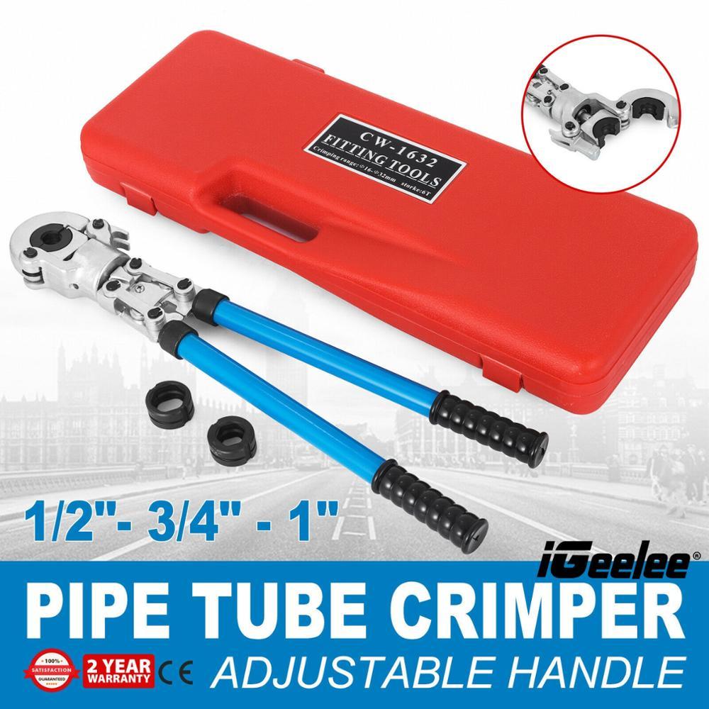 iGeelee Copper Pipe Press Pex Crimp Tool Elkhart Conex Viega Propress Nibco Propres with 1 2