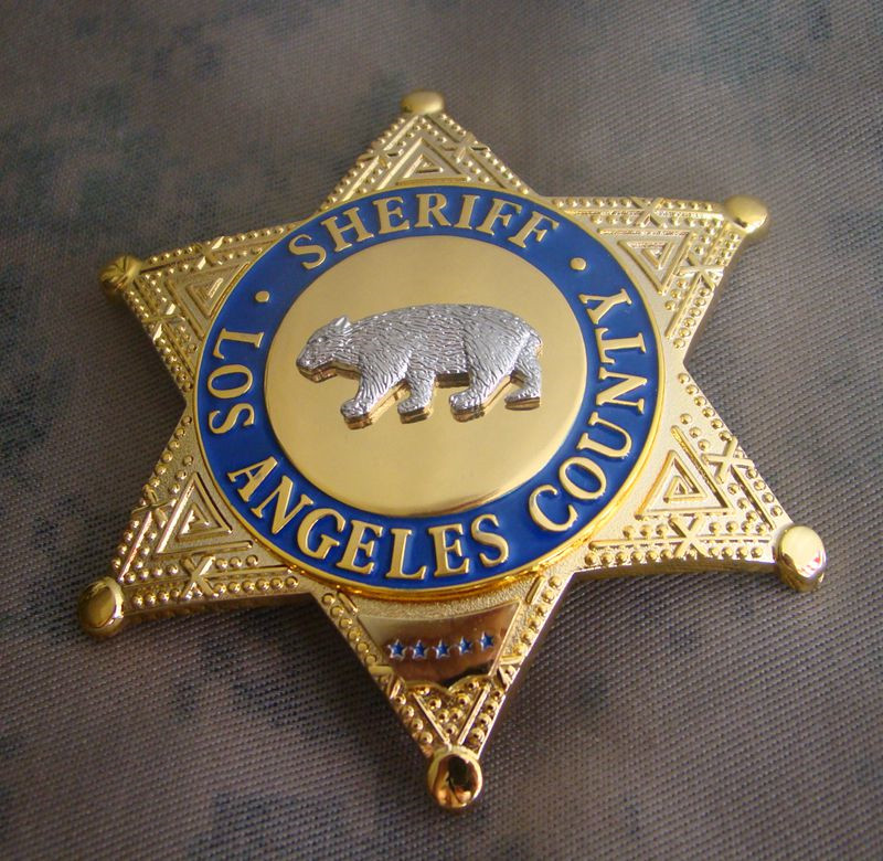 United States LA Los Angeles COUNTY SHERIFF/DEPUTY SHERIFF Shirt Lapel Bear Badge Brooch Pin Insignia Badge 1:1 Gift Cosplay