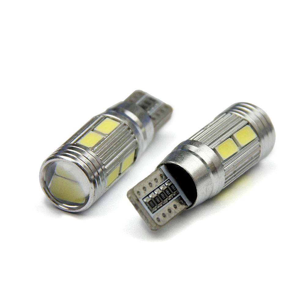 AUTO 2pc Car Auto LED T10 194 W5W Canbus 10 SMD 5630 5730 LED Light Bulb fog Bulb Lights car light auto car styling feb17 car led 1pcs t10 194 w5w dc 12v canbus 6smd 5050 silicone shell led lights bulb no error led parking fog light auto car styling