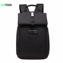 New Felt Backpacks Password lock Anti-thief for Laptop computer 11-15Inch laptop computer bag Faculty Backpack Double Shoulders Rucksack Common
