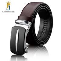 FAJARINA Men S Quality Cowhide Genuine Leather Unique Automatic Coffe Belts Mens Formal Style Belts For