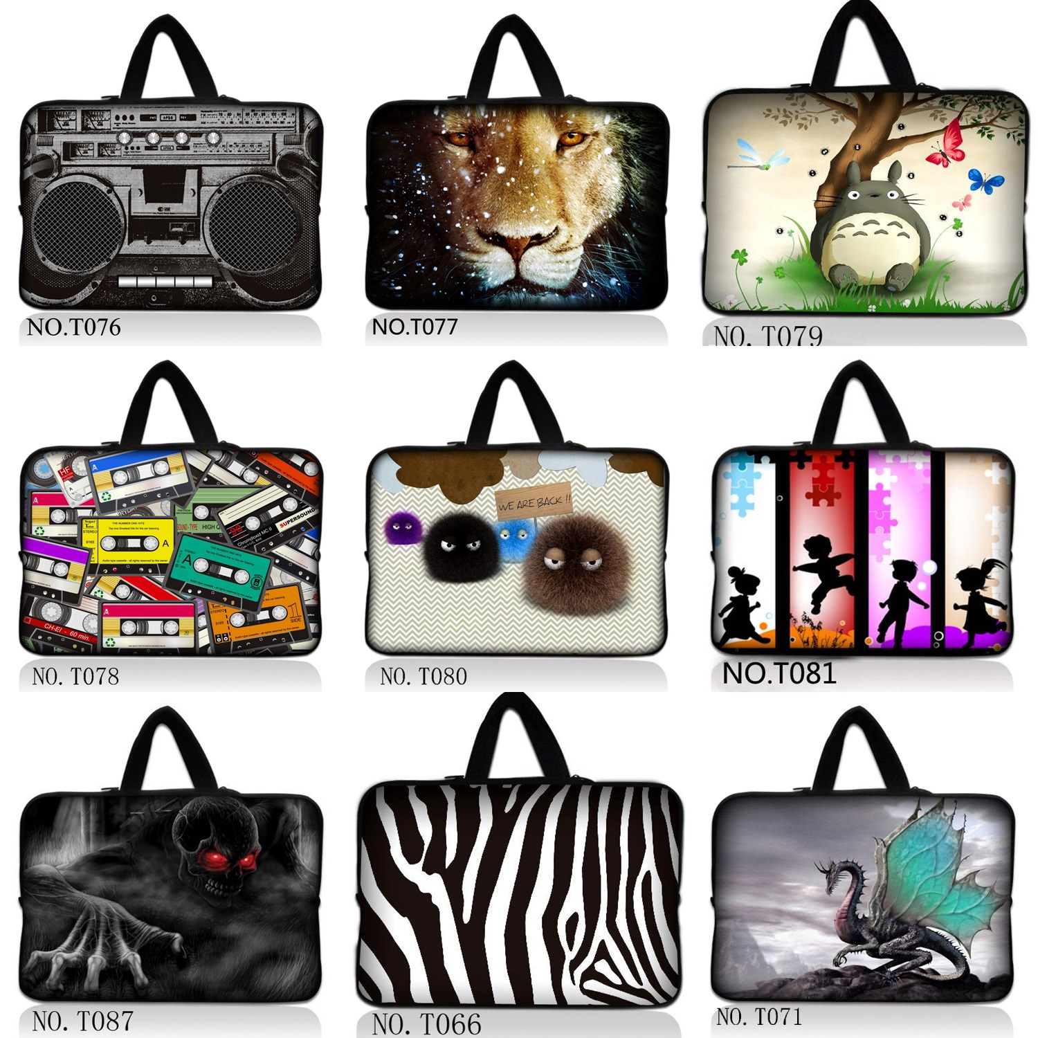 2016 Fashion Style Laptop bag 10 12 13.3 14 15.6 17 For iPad/ air laptop sleeve For macbook pro / air carrying case
