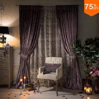 Bedroom the Curtain Drapery Heavy Luxurious Drapes For hotel Living Room Cafe Restaurant Curtain Pencil Pleat The Coffee Curtain