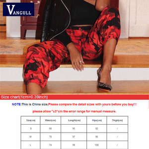 Image 5 - Vangull Red Camouflage Harem Pants Womens Jogger Pant Ankle length 2019 New Spring Fashion Female Casual Cargo Pant Camo Print