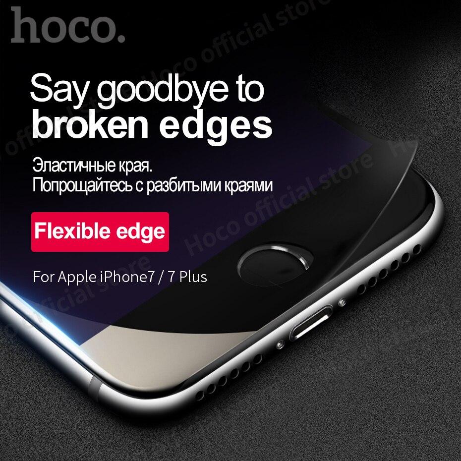 Original <font><b>Hoco</b></font> <font><b>for</b></font> <font><b>iPhone</b></font> 7 & 7 PLUS Flexible <font><b>tempered</b></font> <font><b>glass</b></font> film <font><b>anti</b></font> <font><b>blue</b></font> ray screen protector durable free shipping iPhone7 +