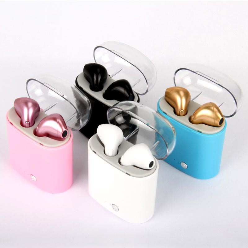 I7S TWS Mini Tws Wireless Bluetooth Stereo Colour Headset Earbuds with Charging Bin Plating Earphones for iphone Android