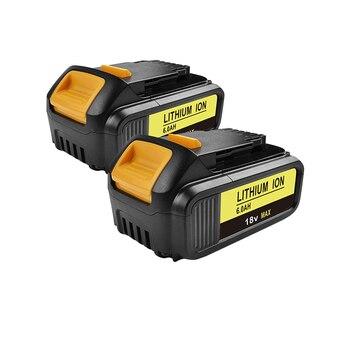 bonacell 2pcs 6000mAh 18V Power Tool Battery for Dewalt DCB200 DCB181 DCB182 DCB204-2 DCB201 DCB201-2 DCB200 DCB200-2 DCB204-2