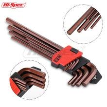 купить Hi-Spec Prefessional 9pc Metric S2 Long Medium Hex Keys Torque Wrench Spanner Set Universal Hexagonal Key Set Llave Allen дешево