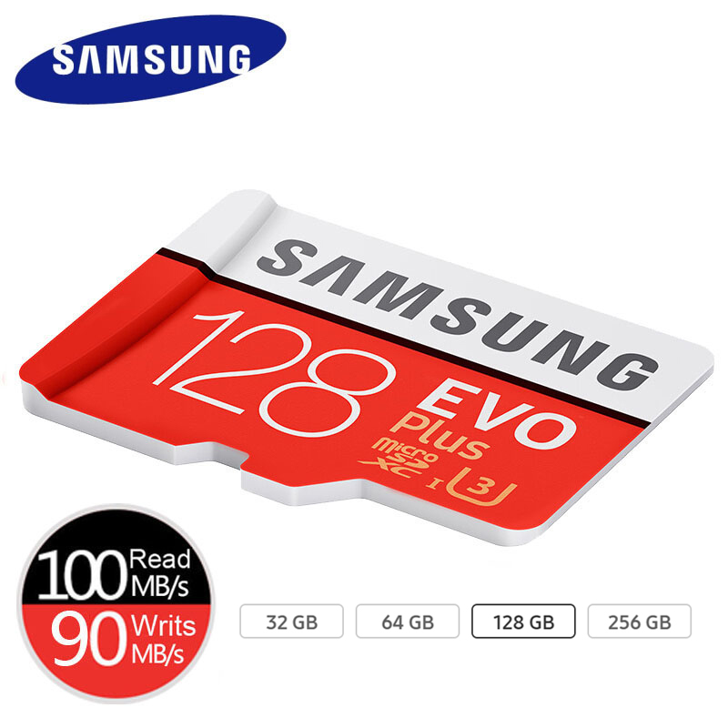 SAMSUNG MicroSD Memory Card 64gb 128GB 256GB Plus Class10 Waterproof TF Memoria Sim Card Trans Mikro Card 128GB For Smart Phone