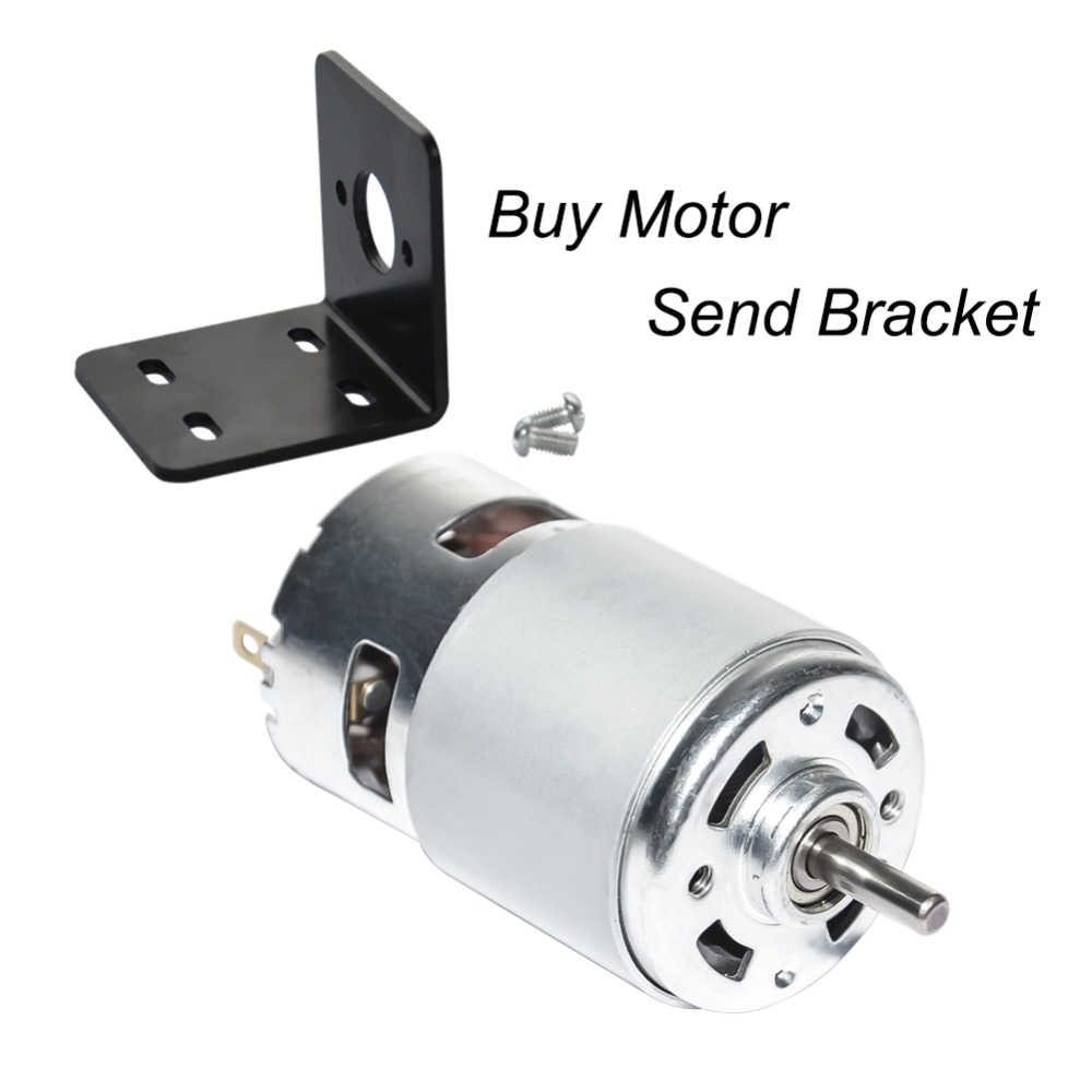 US $17 76 5% OFF|775 DC 12V 24V Brush Motor High Speed 5000rpm 10000rpm  12000rpm and Bracket CW&CCW with Bearing for DIY Driver Parts-in DC Motor  from