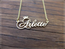 Personalized Crown Name Necklace