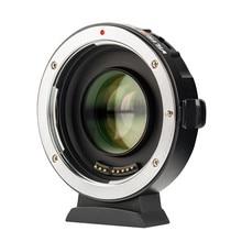 Viltrox EF-M2 II Фокусное Редуктор переходник для бустера автофокусом 0.71x для Canon EF Крепление объектива к M43 камеры GH5 GH4 GF7GK GX7 E-M5 II