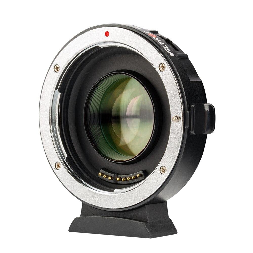 Viltrox EF-M2 II réducteur de focale Booster adaptateur Auto-focus 0.71x pour Canon EF monture objectif à M43 caméra GH5 GH4 GF7GK GX7 E-M5 II