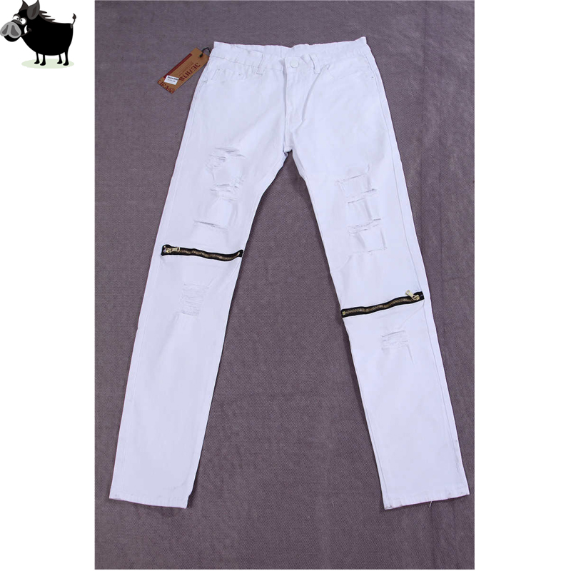 Man Si Tun Kanye West Ripped Jeans For Men Skinny Distressed Slim Famous Brand Designer Biker Hip Hop Swag Tyga Hype Slim Jean hot 2017 blue ripped jeans men with holes cowboy super skinny famous designer brand slim fit destroyed torn jean pants for male