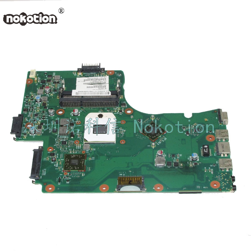 NOKOTION SPS V000225010 Laptop motherboard For toshiba satellite C650D C655D 6050A2357401-MB-A02 PN 1310A2357402 Main Board work nokotion 60 days warranty laptop motherboard for toshiba satellite s50 s50dt a a6 5345m cpu pn 1310a2556002 sps v000318020