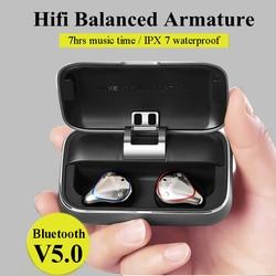 Mifo O5 Bluetooth 5.0 Vero Auricolari Senza Fili Auricolare Bluetooth di Sport Equilibrata Suono Stereo Auricolari con Casella di Ricarica per il Telefono