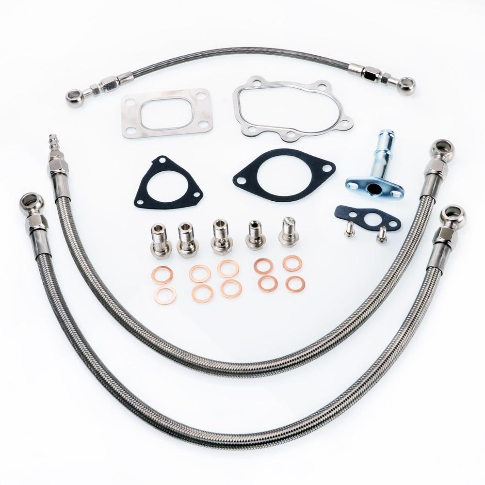 Kinugawa Turbo Öl und Wasser Linie Kit für S13 SR20DET Silvia w/für Kinugawa TD05H TD06SL2 Turbo