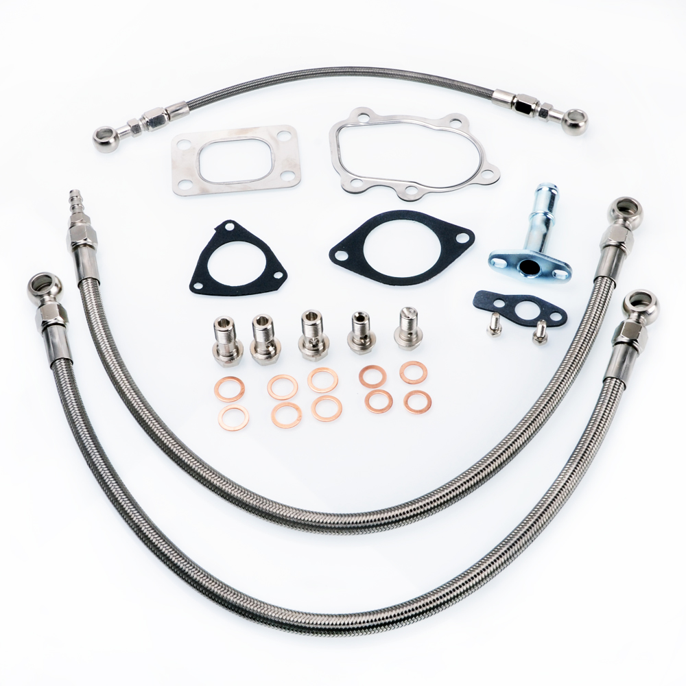 Kinugawa Turbo Olie en Water Lijn Kit voor S13 SR20DET Silvia w/voor Kinugawa TD05H TD06SL2 Turbo