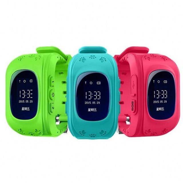 Atualizar q50 tela oled smart watch crianças kid relógio de pulso gsm gprs gps localizador rastreador anti-perdida smartwatch para android ios