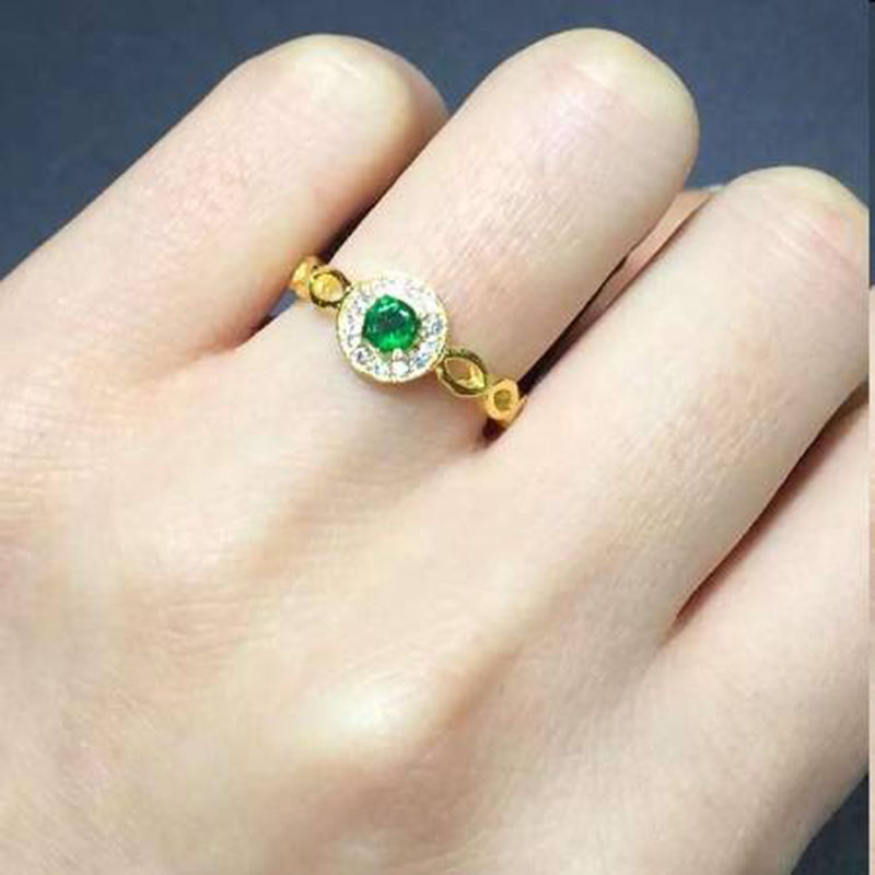 Anillos Jewelry Qi Xuan_Fashion Jewelry_Colombia Green Stone Fashion Rings_S925 Solid Silver Woman Rings_Factory Directly Sales 2017 anillos jewelry qi xuan