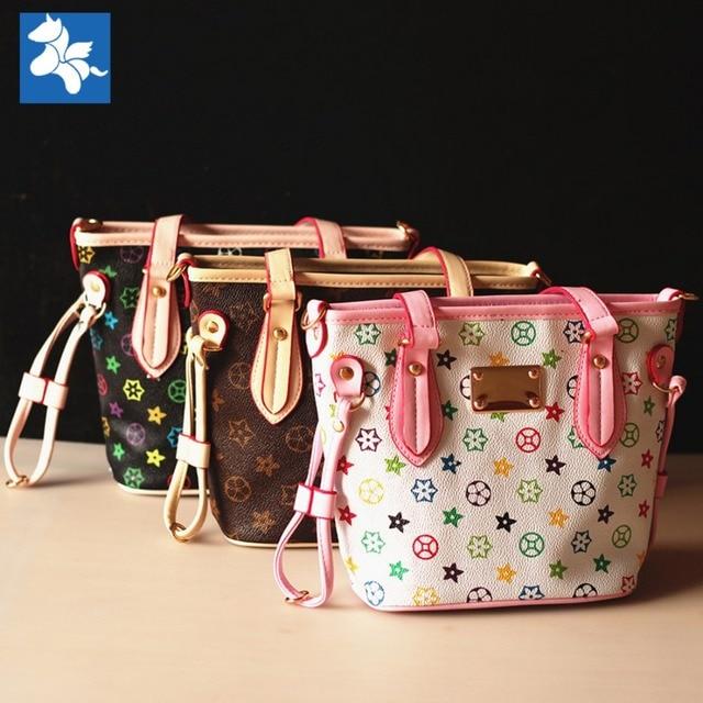 Wholesale high-class classic fashion cute Luxury bags lovely girls leather  handbag children kids saddle bags birthday gift 3217afad6c924