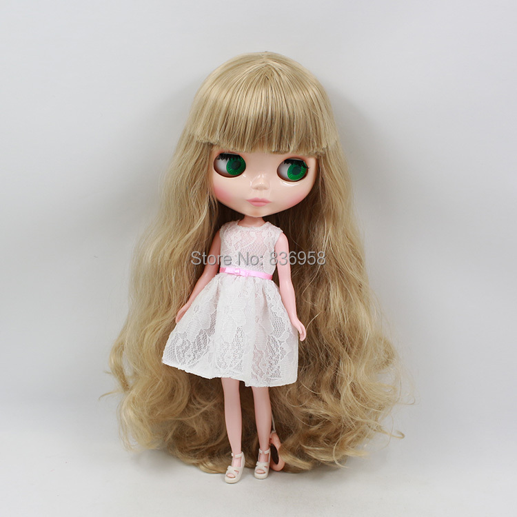 Nude Doll For Series No .300BL3227bangs flaxen Long hair White skin Suitable For DIY Change Toy For Girls