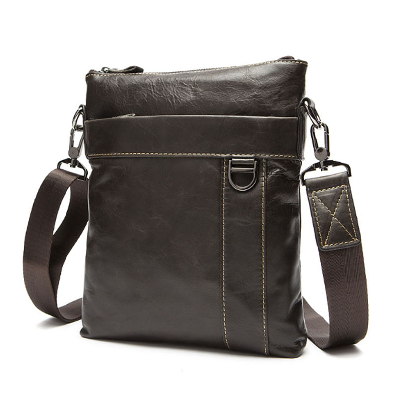 New Men Genuine Leather Messenger Shoulder Bag Fashion Business Bags Travel Cross Body Pack 100% genuine leather small business men messenger bags cowhide travel shoulder bags for men cross body chest packs 2016