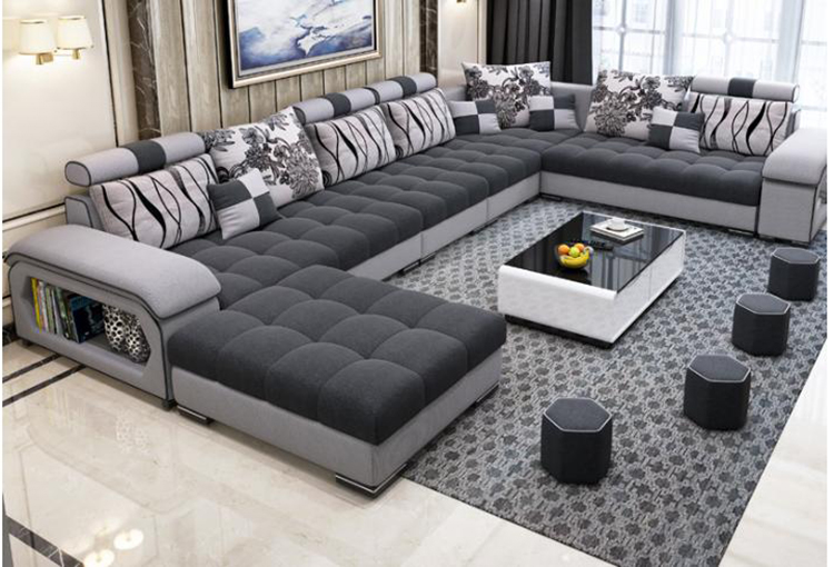 New Arrival Modern Design U Shaped Sectional 7 Seater
