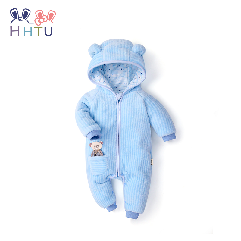 HHTU 2018 Infant Romper Baby Boys Girls Jumpsuit Newborn Clothing Hooded Toddler Baby Clothes Cute Bear Romper Baby Costumes newborn infant baby romper cute rabbit new born jumpsuit clothing girl boy baby bear clothes toddler romper costumes